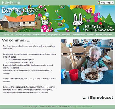 Screendump af www.boernehusethalvrimmen.dk