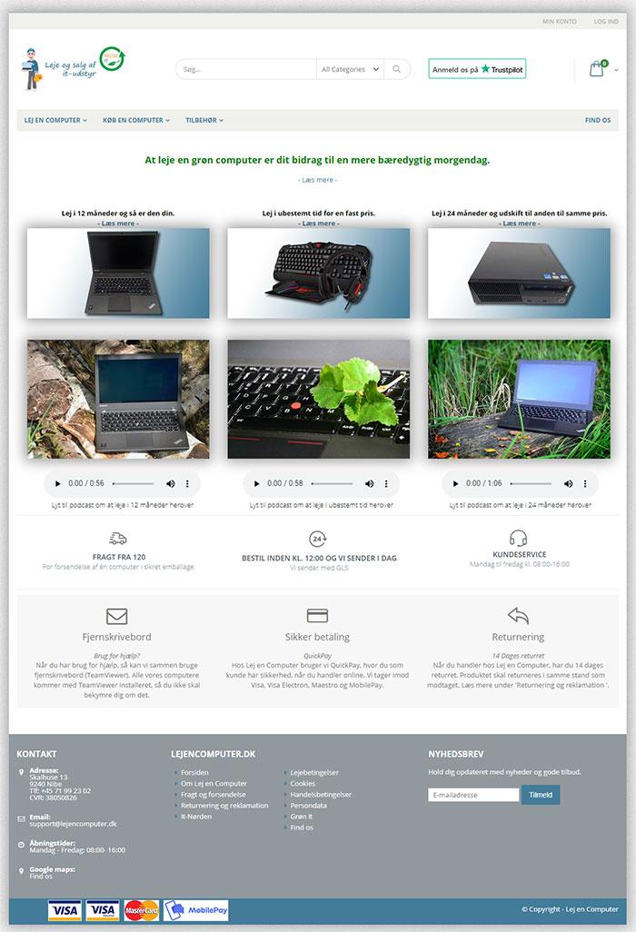 Screendump af www.lejencomputer.dk